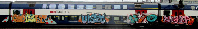 UPSET KCBR SBAHN TRAIN GRAFFITI