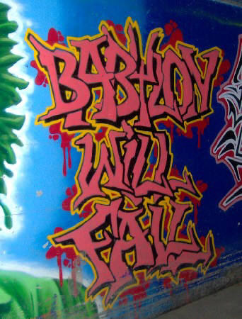 BABYLON WILL FALL graffiti zurich switzerland
